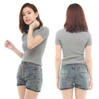 BN Basic Grey Knitted Top