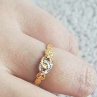 💘916 Gold Chanel Ring💘