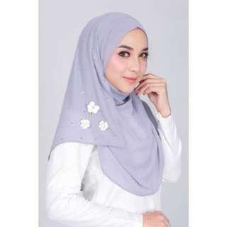 MAYA Instant Shawl Soft Grey
