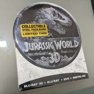 Jurassic World 3D limited edition steel packaging