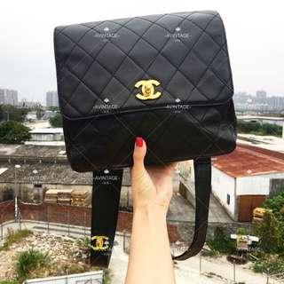 (SOLD)Chanel Vintage 黑色羊皮 Backpack