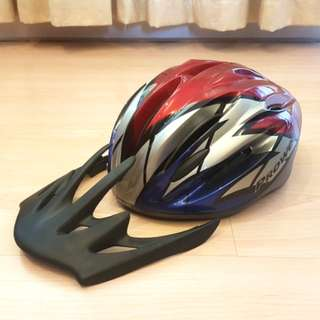 Prowell Helm Sepeda - Red Silver Blue