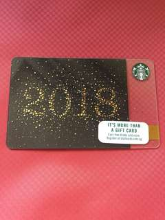 Starbucks Gift Card 2018 New Year Design