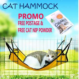 FREE Postage & FREE CatNip Powder - Cat Hammock - 2tier/Cage