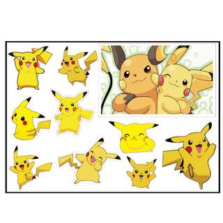 3M Transparent Pokemon Pikachu Sticker Notebook Sticker Car Luggage Suitcase Sticker A4