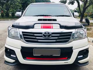 SAMBUNG BAYAR  TOYOTA HILUX 4x4 TRD SPORT 2.5 AUTO YEAR 2015 MONTHLY RM 1150 BALANCE 6 YEARS 10 MONTHS ROADTAX DEC 2018 MILEAGE LOW LEATHER SEAT TIPTOP CONDITION  DP KLIK wasap.my/60133524312/hiluxtrd