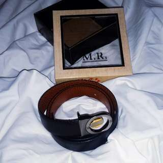 Authentic leather belt