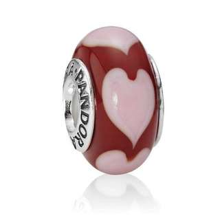 PANDORA Red Love, Pink Hearts Charm
