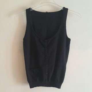 Soft Black Vest top