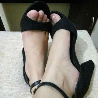 Preloved - Velvet Peep Toe Shoes