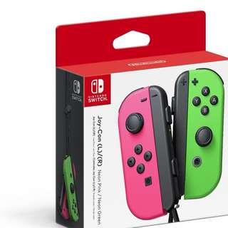 BN Nintendo Joy-Con (L/R) - Neon Pink / Neon Green