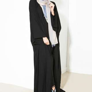 Button front abaya