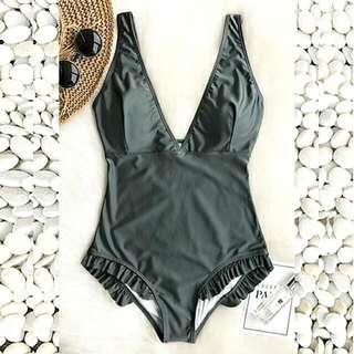 Classy Swimwear With Ruffles Design