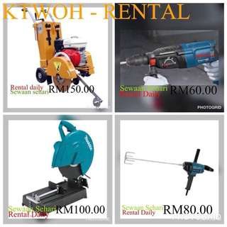 Rental pf equipment