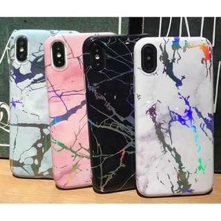 手機殼IPhone6/7/8/plus/X : 簡約雷射大理石