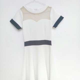 Dress putih ching ching butik Bdg