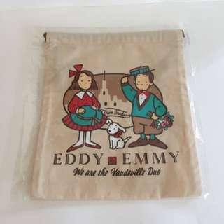 Sanrio vintage The Vaudeville Duo 狗男女 Eddy & Emmy 索袋 1993