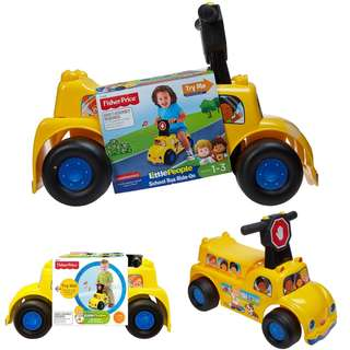BN: Fisher Price Little People School Bus Ride-on Vehicle
