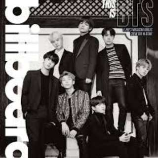 BTS Billboard Limited Edition Magazine + Poster
