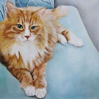 寵物油畫 教畫 教學 代畫
