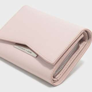 新加坡直送 包郵 Charles & Keith FRONT FLAP DETAIL WALLET
