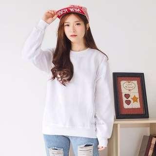 Sweater Polos Putih