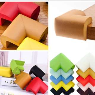 🌈(Ready Stock) Baby Safety First)💯🆕Brand New Eco-friendly Foam Spongy Type Corner Bumper/Baby Furniture Safety Table Edge Protector (10pcs in a pack with free adhesive tapes)