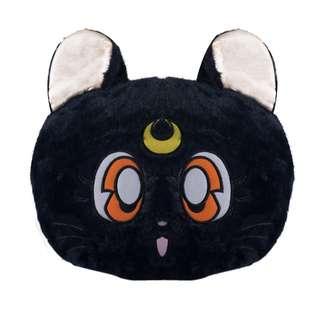 Sailor moon Luna black cat travel pillow with blanket
