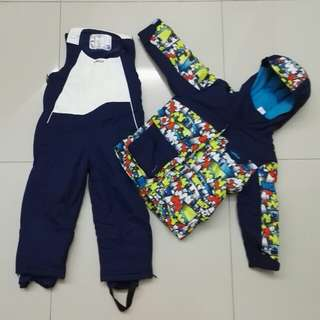 Children Winter Jacket with Thermal Jumpsuit (4-5 y.old)
