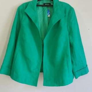 Blazer hijau keren