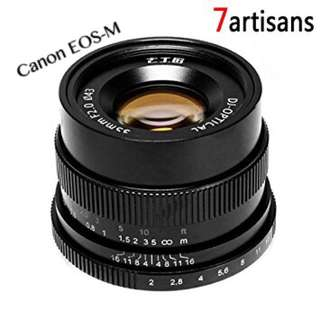 7artisans 35mm f/2 manual focus lens for Canon EOS M mount