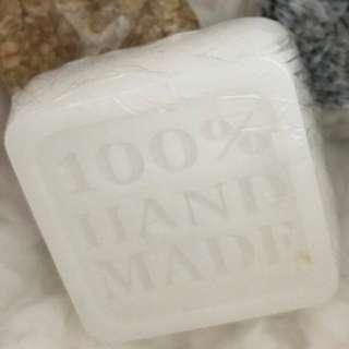 Goat's milk & Korean Spa Sea Salt Scrub Handmade Soap