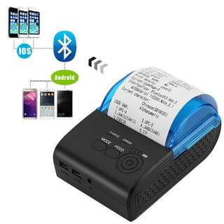 Printer Thermal Bluetooth ZJ5805 IOS + Android  + Indikator Baterai