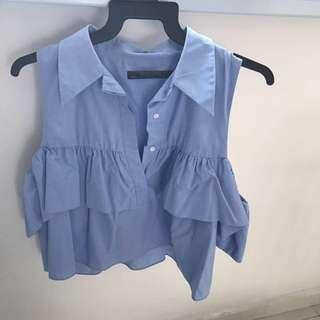 Zara cold shoulder top