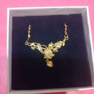 18k gold-plated imitation gold necklace - 0723