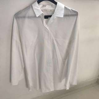 Zara white poplin shirt