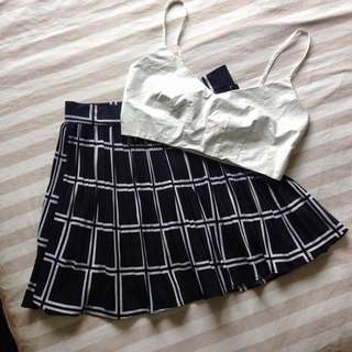 Crop And Skirt Co-Ord / Set