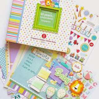 BRAND NEW SG50 Baby Scrapbook with Stickers