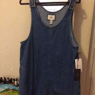 Denim overall dress (forever 21 - NWT)