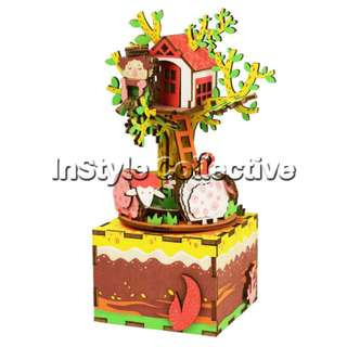 3D DIY Musical Box / Wooden Puzzle - AM408: Treehouse