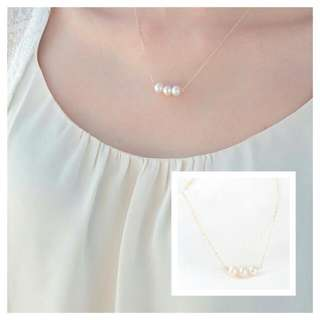 Swarovski Triple Pearl Necklace