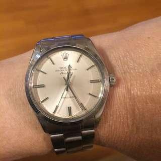 Rolex 1002 airking自動膠面冇紙冇盒最後減價1969年