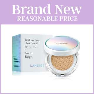 (Reduced to clear) LANEIGE BB Cushion Pore Control SPF50+ PA+++ NO. 21