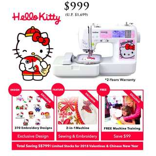 Brother NV980K - Hello Kitty 2-in-1 Embroidery & Sewing (Biggest Price Drop)