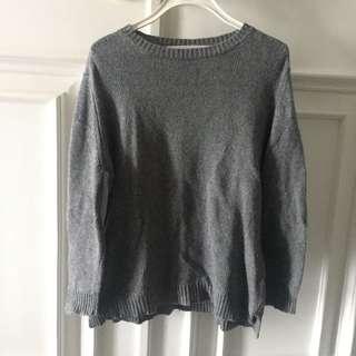 Gray Zaraknit Patches Sweatshirt