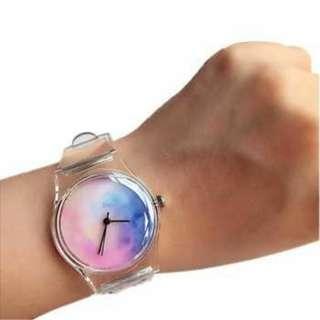Jam Tangan Strap Transparan
