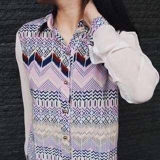 Purple tribal shirt