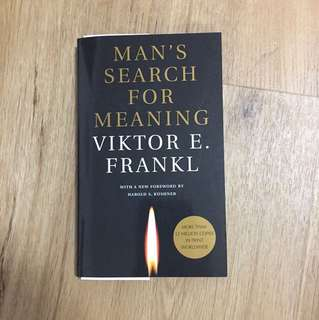 Man's Search For A Meaning
