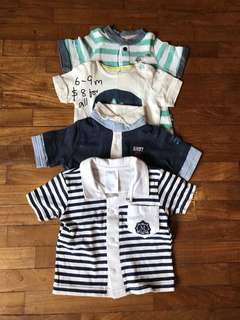 6-9 month bundle of tshirts for baby boy