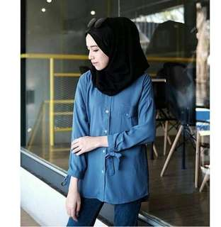 Rx.  Zaitun Shirt Navy, Grey,  Black